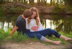 Baby girl gender reveal photos