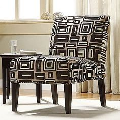 Oxford Creek -Contemporary Geometric Fabric lounger chair