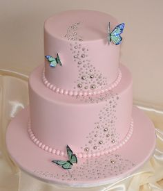 Pink girl birthday cake