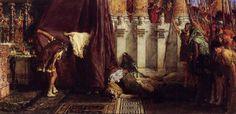 Tableaux sur toile, reproduction de Alma Tadema, Avé César ! Les saturnales