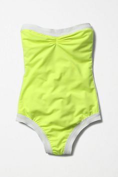 Coraline Maillot #anthropologie. bright yellow! LOVE!!! perfect for summer, and compliments my asian skin too :)