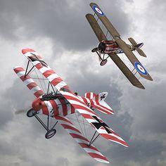 Sopwith Camel & Albatros DIII WW1 Airplane