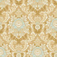 Juliet Gold Damask - Anna Griffin - Quilt Fabrics
