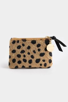 Lizzy Basic Calf Hair Pouch Spotted Animals, Black Spot, Purses And Bags, Pouch, Beige, Handbags, Hair, Accessories, Style