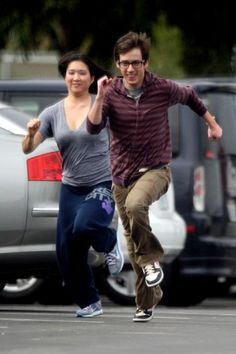 Kevin and Jenna. What/who do you think they are running from?