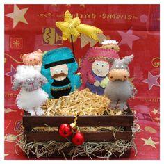 Love! but where is baby Jesus? - Nativity Felt Set (7 pieces). $35.00, via Etsy.