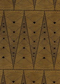 art deco print On pourrait faire un pattern qui fait référence à Noël... On dirait des sapins, mais ça pourrait aussi être des boules de Noël