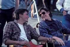 Rob Lowe As Soda Pop n Thomas Howell As Poney Boy in The Outsiders The Outsiders Cast, The Outsiders Ponyboy, The Outsiders Imagines, The Outsiders Fanfiction, 80s Movies, Good Movies, Movie Tv, Dallas Winston, Greaser Girl