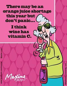 Orange Juice Shortage = Drink more wine!