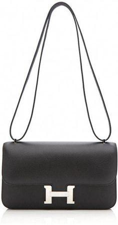 1213051028 Vintage Hermes 24cm Black Epsom Leather Constance Elan - Lyst   Hermeshandbags
