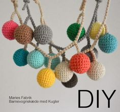 DIY // Barnevognskæde med kugler // Opdateret | MARIES FABRIK | Bloglovin'