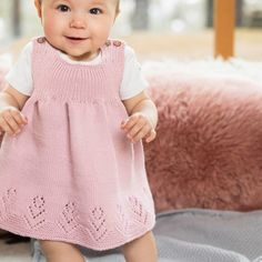 DG411 Baby-skatter fra gull-arkivet | Dale Garn Knitting For Kids, Baby Knitting Patterns, Baby Barn, Drops Design, Cotton Dresses, Baby Kids, Heaven, Flower Girl Dresses, Wedding Dresses