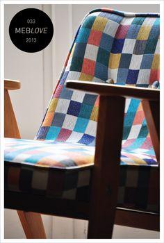 vintage armchair, chierowski, pixel, 366, polish design