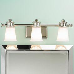 Le Coiffeur Transitional 3-Light Bath Light- master bath lighting
