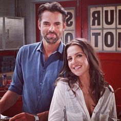 Double tap if you think would make an adorable couple! Behind-the-scenes shot from today's episode! Soap Opera Stars, Soap Stars, Jason Thompson, Kelly Monaco, Today Episode, Days Of Our Lives, General Hospital, Scandal, Cute Couples