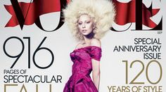 Lady Gaga Graces the Cover of Vogue's September Issue.