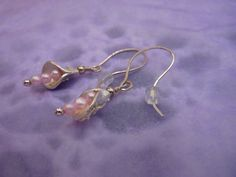 Art Clay Silver and Freshwater Pearl Earrings on by violetsparks, £20.00