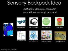 Sensory Backpack Idea