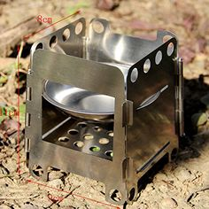 Portable Outdoor Camping Alcohol Wood Picnic Stove Burner Furnace Cooker Gray UK