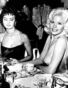 Sophia Loren Finally Explains That Infamous Pic With Jayne Mansfield (and Her Nipples)  Sophia Loren, Jayne Mansfield