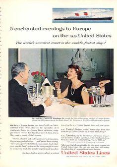 United States Line Ad Ss United States Cruise Ship (1960)