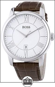 Hugo Boss CLASSICO ROUND - Reloj de cuarzo para hombre, correa de cuero de  ✿ Relojes para hombre - (Gama media/alta) ✿