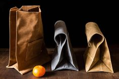 A Lunch Bag with a Special Pocket | Peg and Awl