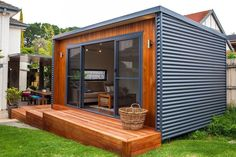 12 Ideas container house plans art studios for Inoutside Outdoor Rooms Backyard Office, Backyard Studio, Garden Office, Garden Studio, Studio Hangar, Shed Plans, House Plans, Studio Shed, Studio Room