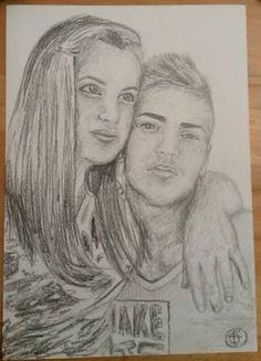 A4 pencil portrait
