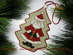 Embroidery ...  The holiday, which is always with me...: Pinkeep Santa Claus / Pinkeep Chirstmas Tree