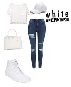 """""""Untitled #733"""" by marxendjie ❤ liked on Polyvore featuring Vans, Topshop, MANGO and Prada"""