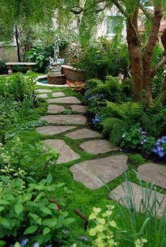 Jardim de Stefania: * Pavimentação rústica para jardim