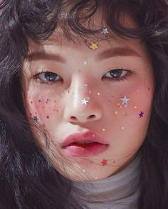 "bienenkiste: ""Kim A Hyun for CéCi Korea "" Eye Makeup, Makeup Art, Beauty Makeup, Hair Makeup, Hair Beauty, Alien Makeup, Scary Makeup, Prom Makeup, Girls Makeup"