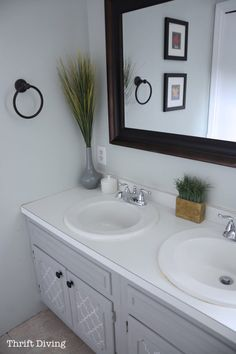 How to Paint a Bathroom Vanity - Thrift Diving Blog6773