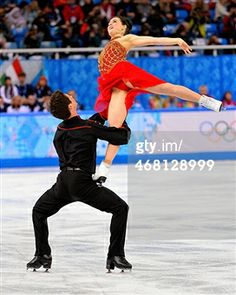 Canada's Tessa Virtue and Scott Moir perform during the team ice dance free figure skating dance short program at the Iceberg Skating Palace at the Winter Olympics in Sochi, Russia, Sunday, Feb, 9...
