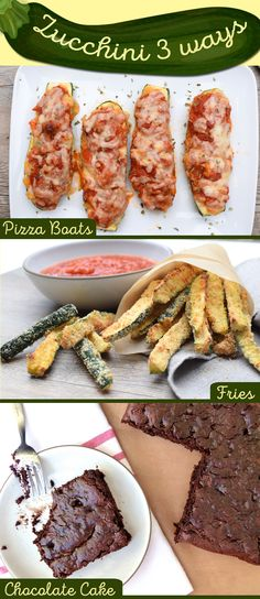 Zucchini is one of the most abundant and versatile summer vegetables. No matter what you do with it, its delicious. Add these kid-friendly recipes to your list this summer. Slow Cooker Recipes, Low Carb Recipes, Healthy Recipes, Zucchini, Pizza Boats, Fries, Gluten Free Chocolate Cake, Afternoon Snacks, Unique Recipes