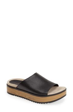 Free shipping and returns on Naya 'Ursa' Leather Slide Sandal (Women) at Nordstrom.com. This streamlined slide sandal channels effortless sophistication with its wood-look platform and textured leather strap. A foam-cushioned latex footbed and microfiber lining provide season-long comfort.