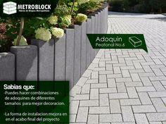 #adoquines de cemento son productos que reemplazan el #concreto fundido, prestando el mismo servicio, mejorando la decoración y si fácil instalación.