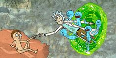 Rick and Morty - Creation of Morty #rickandmorty #creation #painting