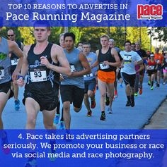 Top 10 Reasons to Advertise in Pace Running Magazine! Pace Running, Running Magazine, Advertising, Social Media, Baseball Cards, Top, Social Networks, Crop Shirt, Social Media Tips