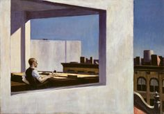 Office in a Small City (1953) Edward Hopper, Oil on Canvas, The Metropolitan Museum of Art, NYC