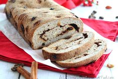 Grain-Free Cinnamon Raisin Bread with Psyllium Husk