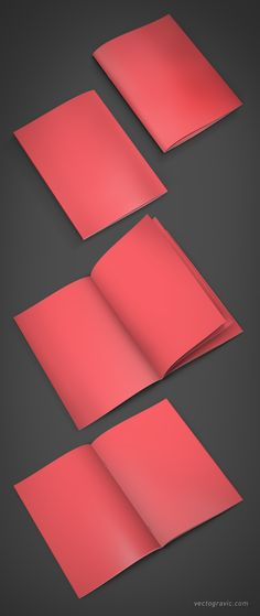 Free A4 Booklet Mockup - by Vectogravic on Behance