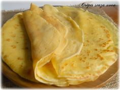 Crepes senza uova ricetta base Eggless Recipes, Vegan Recipes, Cooking Recipes, Omelette, Frittata, Biscotti, Nutella, Big Meals, Vegan Breakfast Recipes