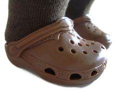28fdd58ea5ba5f Brown Krocs Duc Clog Shoes for 18