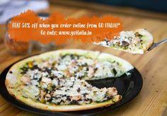 Avail FLAT 50% Discount at #GOITALIA, when you order online. Add: No 36, next to Panasonic Building, 8th Main Road, Koramangala 4th Block, Bangalore.  #Food #Restaurants #NonVeg #Italian #CityShorBengaluru