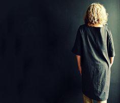 Black Denim Tunic Dress by 13threads on Etsy