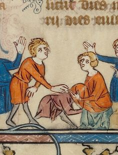 Welcome back to #ThyCaptionBe, a celebration of modern interpretations of medieval aesthetics. Every Monday, this will go down on Tumblr and Twitter:  We'll post a detail. You guess what in the world is going on and write a caption (questionable accuracy welcome).  Then we'll share the full illumination and myth-bust if we must. Caption away! Can't wait to see what #ThyCaptionBe.