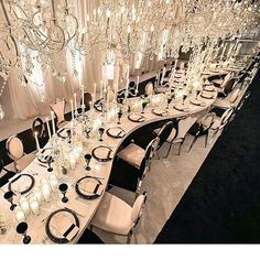 Curves, candles and chandeliers, oh my! 💕💕 #Repost @celiosdesign ・・・ When you have to design your rehearsal diner and you make it very special . Black and white rehearsal dinner by @revelryeventdesign and @allureeventsatelier . Amazing picture by @katiebeverleyphoto . #blackbride1998 #blackbride #weddingevent #rehearsaldinner