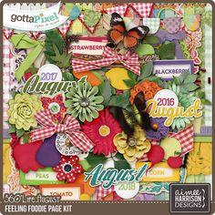 360°Life August: Feeling Foodie Page Kit :: Gotta Pixel Digital Scrapbook Store by Aimee Harrison   $7.99